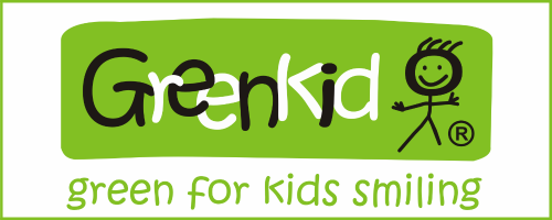 Greenkid brand of Czech wooden toys. Abafactory eco production for children. Green for kids smiling.