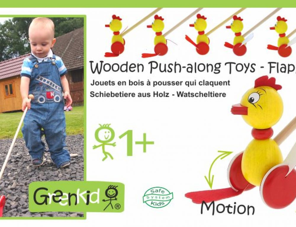Wooden Push-along Toys – Flapping