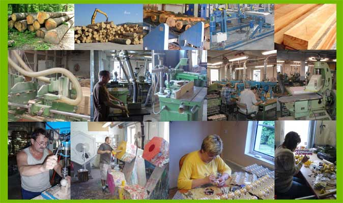 Abafactory the Czech manufacturer of wooden toys - processing of wood, hand work and hand painting.