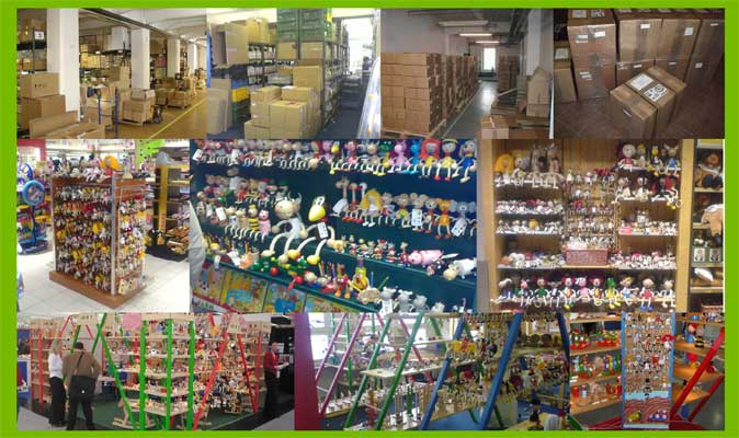 Abafactory the Czech manufacturer of quality wooden toys - showroom and warehouse.