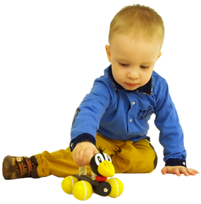 Greenkid pull-along wooden toy. Wooden Raven with a rope on wheels for boys and girls by Abafactory the Czech manufacturer of wooden toys.