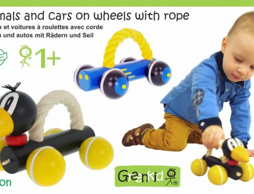 Animals on wheels with rope