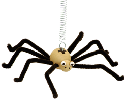 Greenkid wooden flying animals on spring. Wooden toy and decoration: Spider - for children's rooms. Abafactory the Czech manufacturer of quality and safe wooden toys.