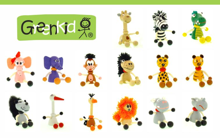 Greenkid keyrings and original decorations not only for children by Abafactory the Czech manufacturer of quality wooden toys.