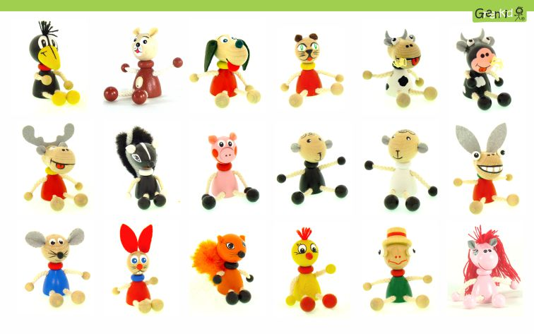 Greenkid keyring and magnets, wooden holder. Wooden animals and friendly figures not only for children by Abafactory the Czech manufacturer of quality wooden toys.