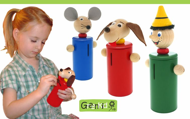 Greenkid wooden toys and decorations for children's rooms. Wooden money bank for boys and girls with animals. Abafactory the Czech manufacturer of quality toys