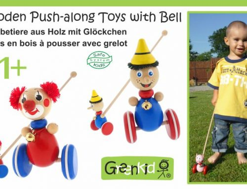 Wooden Push-along Toys with Bell